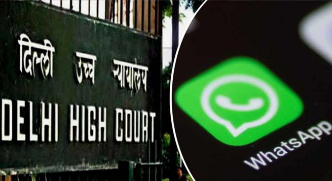 dilli high court and whatsapp