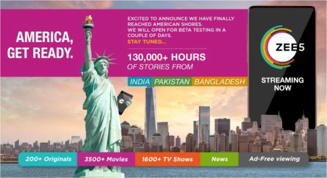 ZEE5 lands in US with beta version; full launch soon
