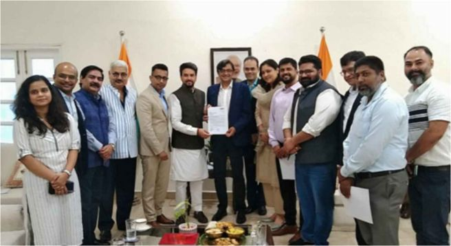 NBF raises news channels' audience data issue with Anurag Thakur