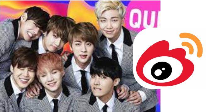China's Weibo bans Korean pop band, BTS, fan account